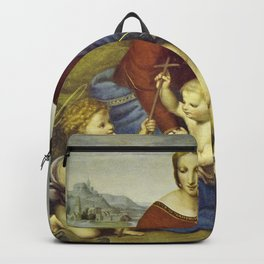 Madonna of the Meadows by Raphael Backpack