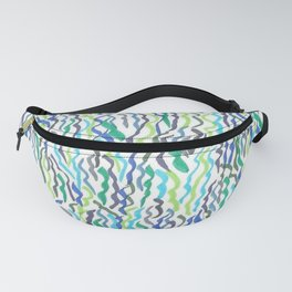 Blue and Green Seaweed Fanny Pack