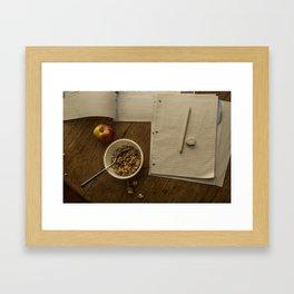 School Morning Framed Art Print