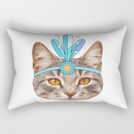 vintage cat Rectangular Pillow