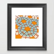 Retro texture Framed Art Print