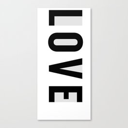 Rx LOVE in GREY Canvas Print