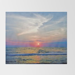 Naples Florida sunset on the Gulf of Mexico Throw Blanket
