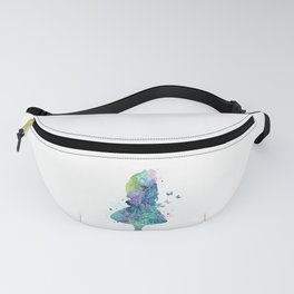Watercolor Slatter Alice In Wonderland Fanny Pack
