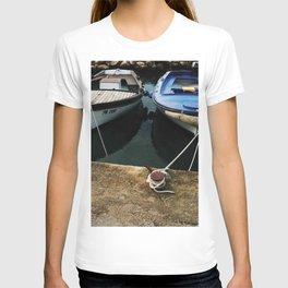 Photography old boats vintage retro Croatia Atlantic sea T-shirt