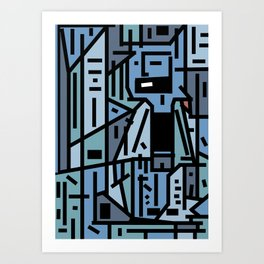 The sad hipster and the copper mosquito Art Print