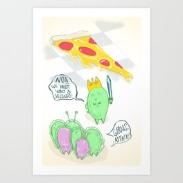 The Five Second Rule Art Print
