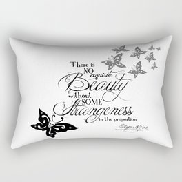 'Strange Skullerflies' -  Quotes - Edgar Allan Poe Rectangular Pillow