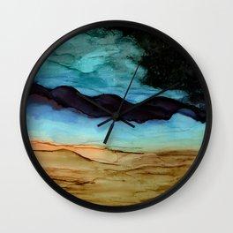 Midnight in the Desert Wall Clock