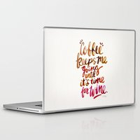 wine Laptop & iPad Skins featuring Coffee & Wine – Brown & Magenta Ombré by Cat Coquillette