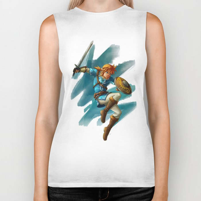 Link (The legend of Zelda Breath of the wild) Biker Tank