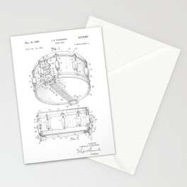 Snare Drum Patent Stationery Cards