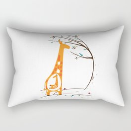 Pregnant Giraffe Rectangular Pillow