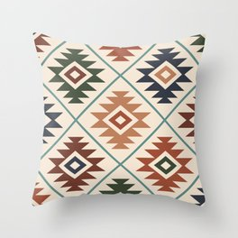 Aztec Symbol Pattern Col Mix Throw Pillow