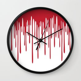 Blood Drippings Wall Clock