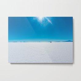 In the Distance, Salar de Uyuni, Bolivia Salt Flats Metal Print