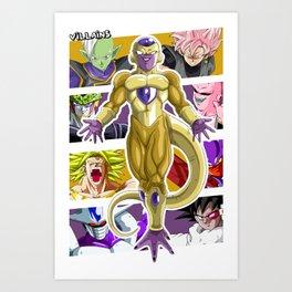 Dragon Ball Super Villains Art Print