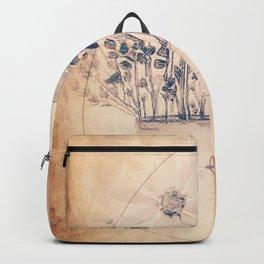 Wildflower Vase Vintage Golden Ratio Backpack