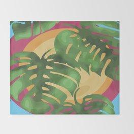 Tropical splendour Throw Blanket
