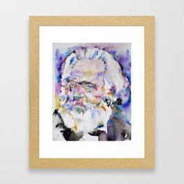 KARL MARX- watercolor portrait.2 Framed Art Print