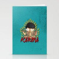 karma Stationery Cards featuring Karma by Seez