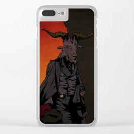 His Red Right Hand Clear iPhone Case