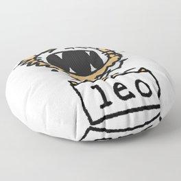 Rawwrrrr! says the Leo. Floor Pillow