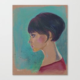 Short Hair I Canvas Print