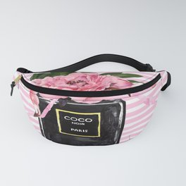 Pink flamingos with perfume painting Fanny Pack