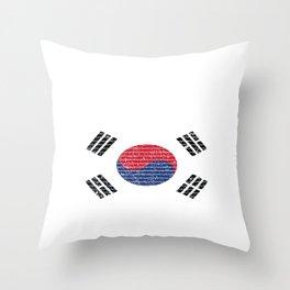 South Korea Country Vintage Korean National Flag Gift Throw Pillow