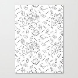 Hiphop pattern Canvas Print