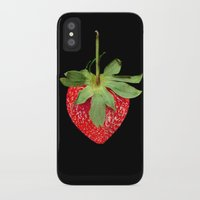 strawberry iPhone & iPod Cases featuring strawberry by Arevik Martirosyan