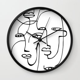 Abstract faces Wall Clock