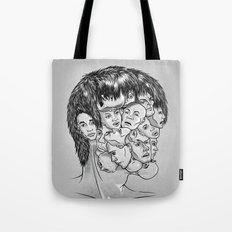 Face Lock BW Tote Bag