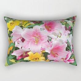 SPRING LILIES FLOWER GARDEN MEDLY Rectangular Pillow