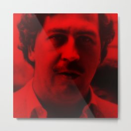 Pablo Escobar - Celebrity (Photographic Art) Metal Print