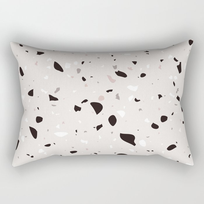 Natural Terrazzo Rectangular Pillow