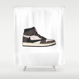 Jordan 1 Retro High Cactus Jack Shower Curtain
