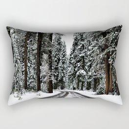 Winter Road #snow Rectangular Pillow
