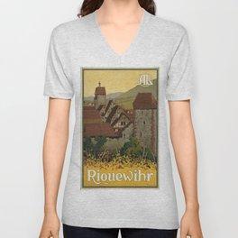 Vintage poster - Riquewihr Unisex V-Neck