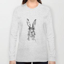 BLACK N WHITE HARE Long Sleeve T-shirt