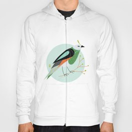 Little Birdy Portrait - Mint Hoody