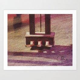 Pedaling Art Print