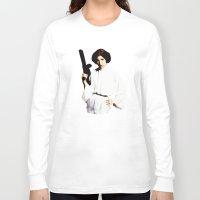 princess leia Long Sleeve T-shirts featuring Princess Leia by Ms. Givens