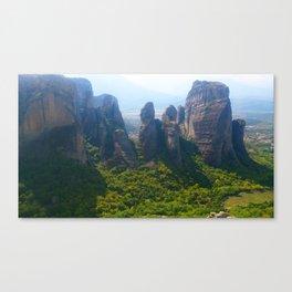 Meditation up to Meteora | Greece | Nature Canvas Print