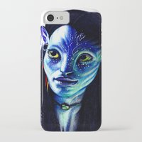 avatar iPhone & iPod Cases featuring AVATAR by csmithart