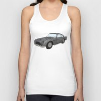 james bond Tank Tops featuring James Bond Aston Martin DB5 by Dany Delarbre