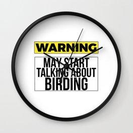 Used to be Noisy But Funny Talking Bird Tshirt Design Warning!bird talking Wall Clock