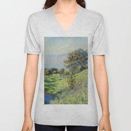 """Claude Monet """"Coup De Vent"""" Unisex V-Neck"""