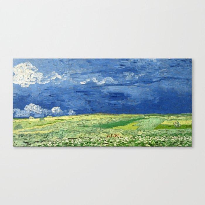 Wheatfield under thunderclouds by Vincent van Gogh Canvas Print